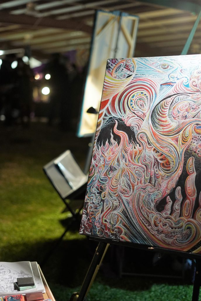 Live Painting at Gem and Jam 2018. Photo by: RJ Harvey