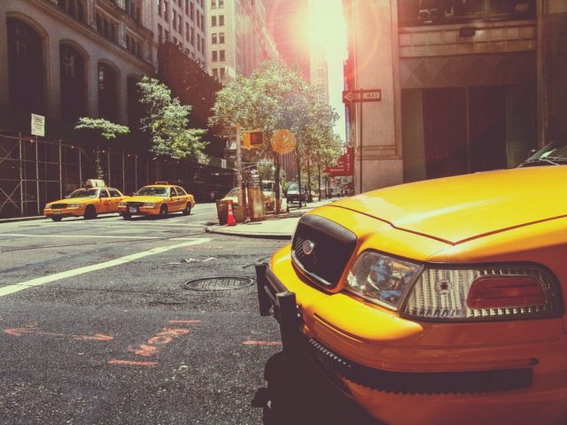New York City cabs gearing up for WWE Raw 25. Photo by: Pexels.com