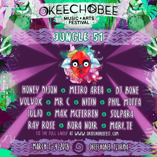 Okeechobee music festival announced their jungle 51 lineup for Jungle house music