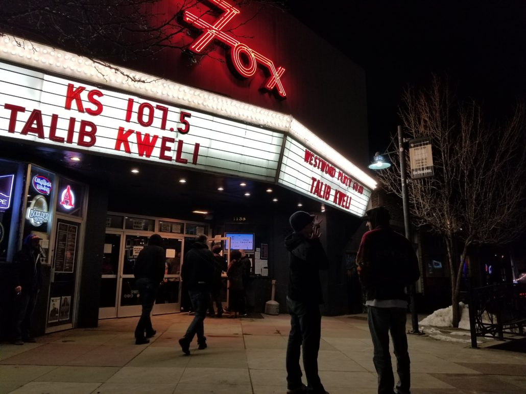 The Fox Theater in Boulder, Colorado on February 27, 2018. Photo by: Matthew McGuire