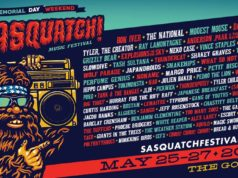 SASQUATCH Music Festival 2018 lineup. Photo by: SASQUATCH! Music Festival
