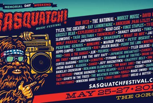SASQUATCH Music Festival 2018 lineup. Photo by: SASQUATCH! Music Festival