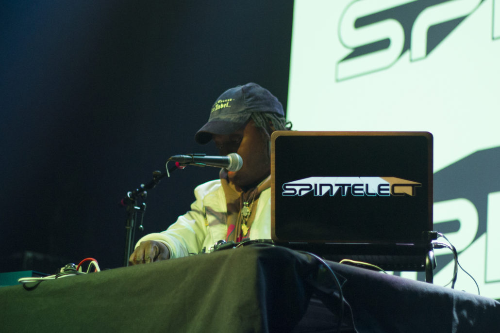 Spintelect performing at the Fox Theater in Boulder, Colorado. Photo by: Matthew McGuire