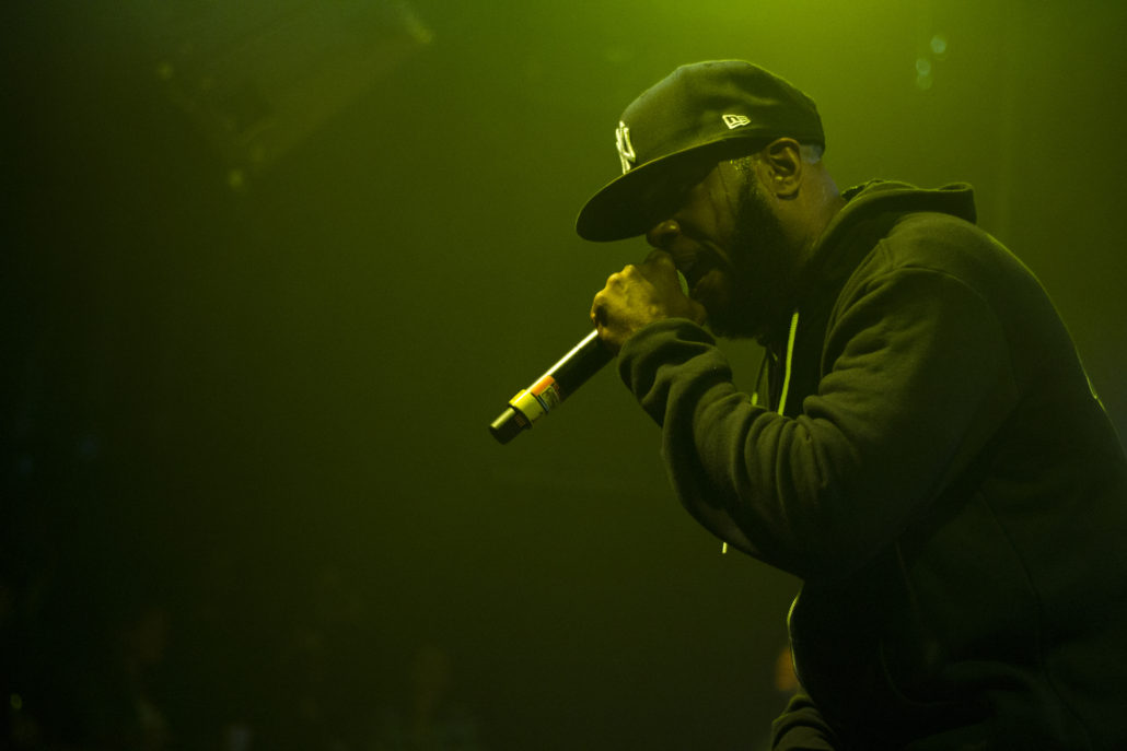 Talib Kweli performing at the Fox Theater in Boulder, Colorado. Photo by: Matthew McGuire