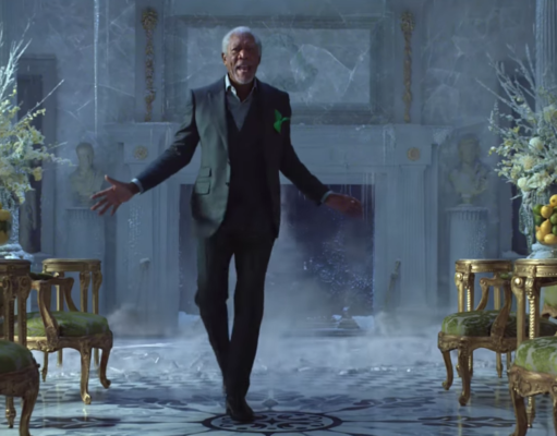 Morgan Freeman appearing in a Mountain Dew commercial. Photo by: Mountain Dew / YouTube