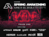 Spring Awakening Music Festival 2018 initial lineup. Photo provided.