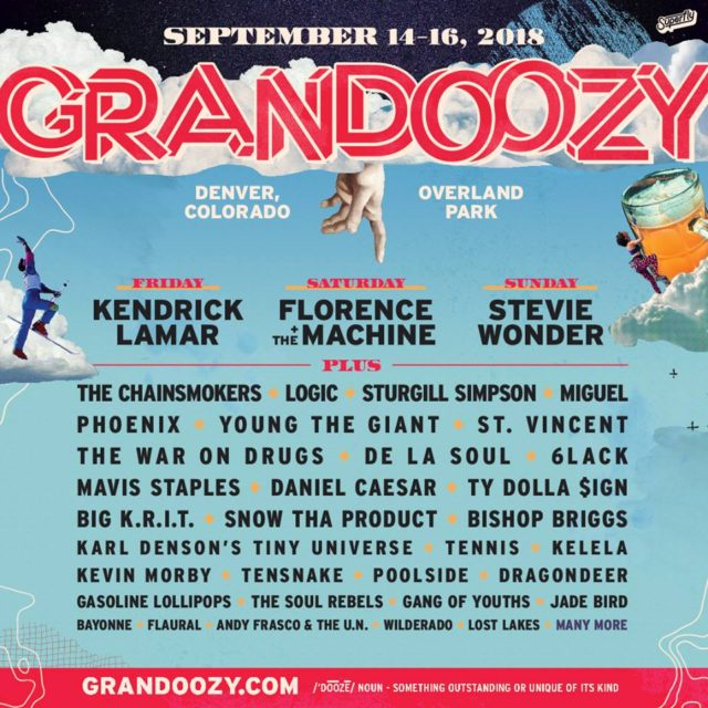 Grandoozy 2018 lineup. Photo by: Grandoozy