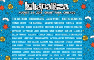 Lollapalooza 2018 lineup. Photo provided.
