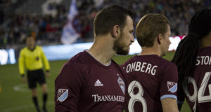 Colorado Rapids new home jerseys. Photo by: Matthew McGuire on 03/24/18