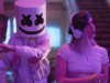 Marshmello and Anne-Marie still from the video 'Friends.' Photo by: Marshmello / YouTube