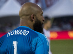 Tim Howard, goalkeeper for the Colorado Rapids. Photo by: Matthew McGuire