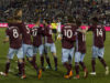 Colorado Rapids celebrating a goal against the Philadelphia Union. Photo by: Matthew McGuire