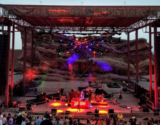 Wax Tailor performing at Red Rocks Amphitheatre. Photo by: Matthew McGuire