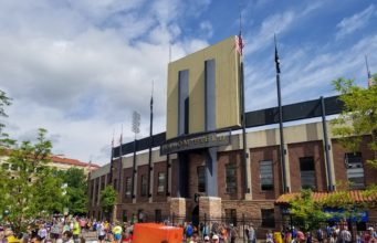 Folsom Field during BolderBOULDER 2018. Photo by: Matthew McGuire