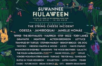 Suwannee Hulaween 2018 lineup. Photo by: Suwannee Hulaween / Silver Wrapper