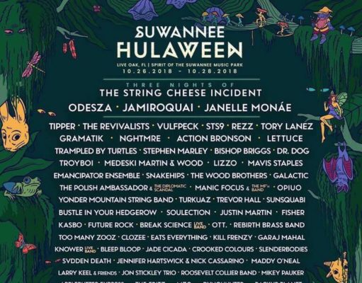 Suwannee Hulaween 2018 lineup. Photo by: Suwannee Hulaween / Silver Wrapper