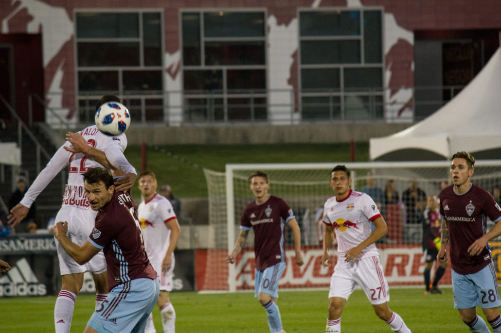 Colorado Rapids vs. the New York Red Bulls at Dick's Sporting Goods Park on 05/12/18. Photo by: Matthew McGuire