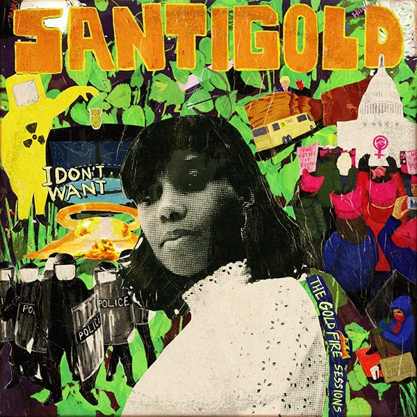 Santigold album cover for 'I Dont Want The Gold Fire Sessions'. Photo provided.