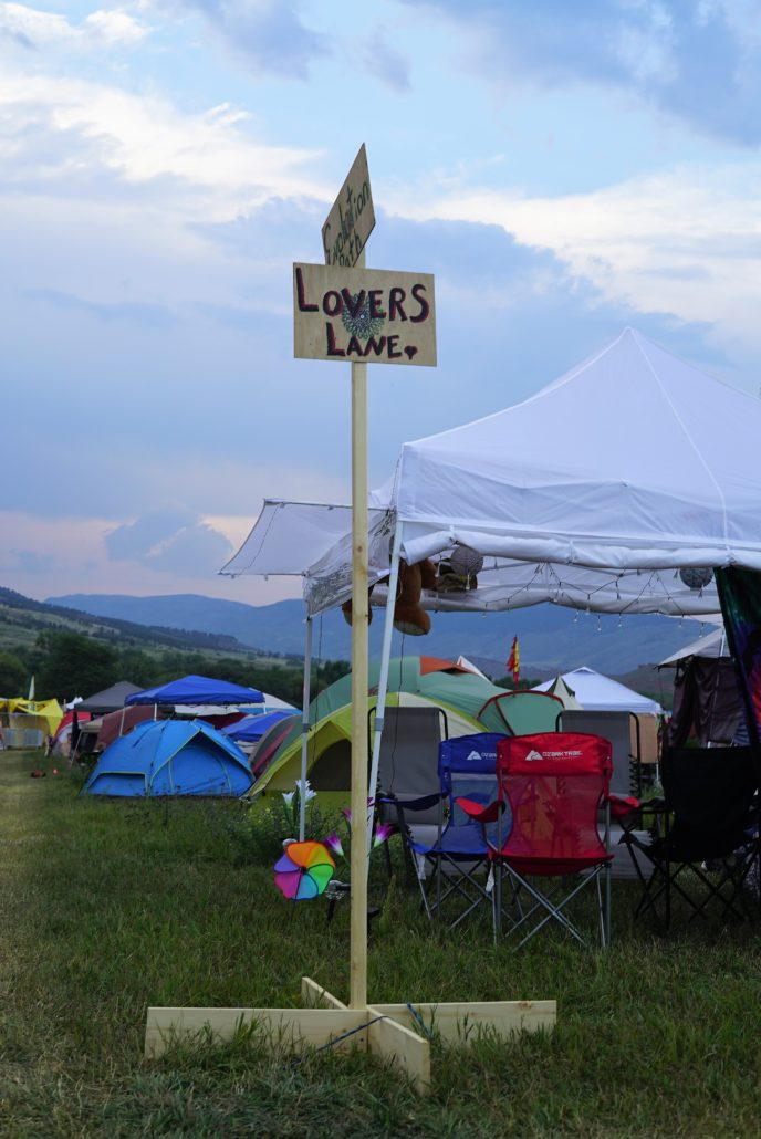 Travel down Lovers Lane within the campgrounds of the 2018 ARISE Music Festival. Photo by: Samantha Harvey