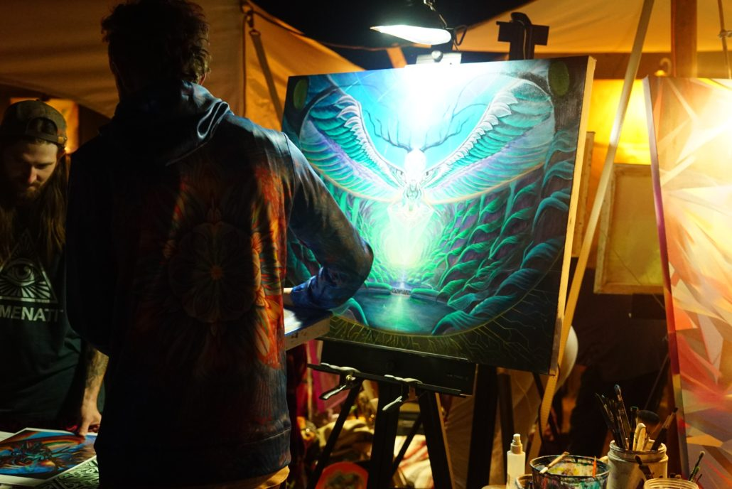 Live painting at ARISE Music Festival 2018. Photo by: Samantha Harvey