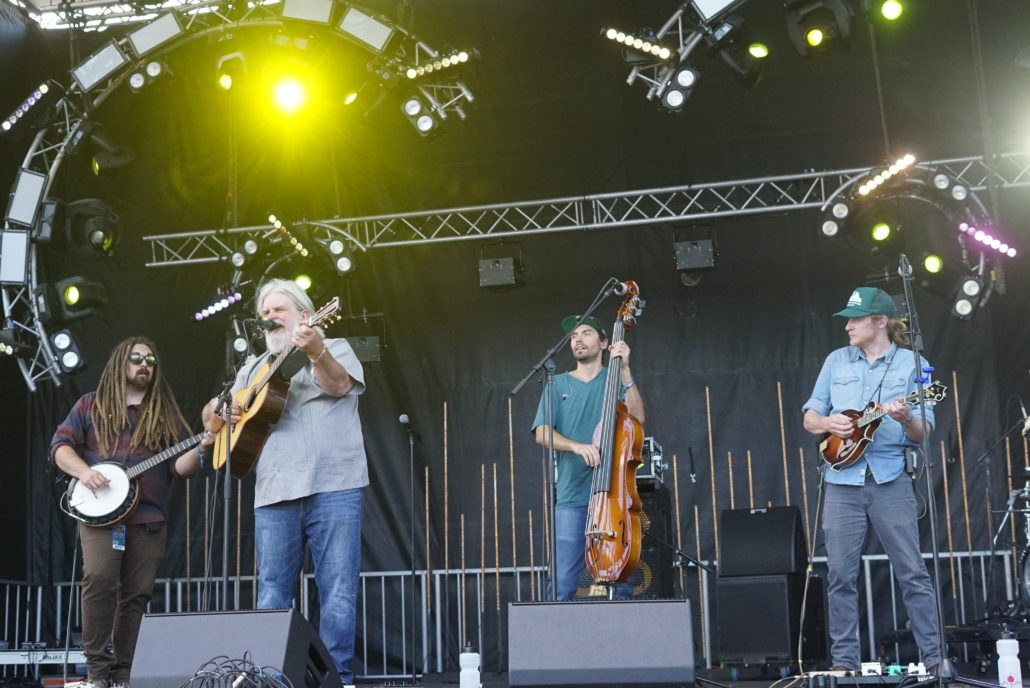 The Kitchen Dwellers with Vince Herman on the Eagle Stage. Photo by: Samantha Harvey