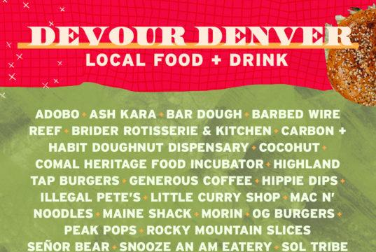 Grandoozy Devour Denver Lineup. Photo provided.