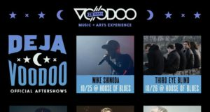 Deja Voodoo Music Festival lineup. Photo by: Voodoo Music + Arts Experience