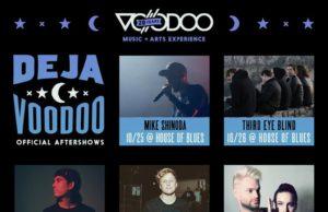 Deja Voodoo Music Festival lineup. Photo by: Voodoo Music + Arts Experience
