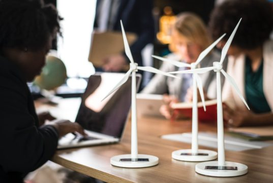 An engineer working on wind power technology to curb climate change. Photo by: Pexels.com