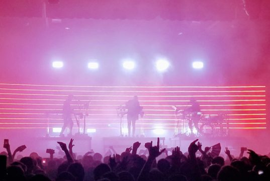 Rufus Du Sol performing at the Fillmore Auditorium in Denver on Sunday, November 11. Photo by: Matthew McGuire