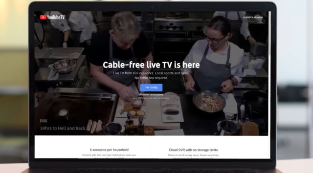 YouTube TV on a digital device. Photo by: YouTube Help / YouTube