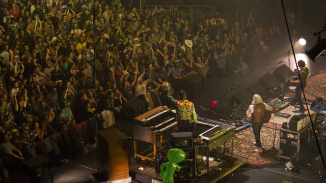 The String Incident performing at the 1st Bank Center in Broomfield, Colorado. Photo by: Matthew McGuire