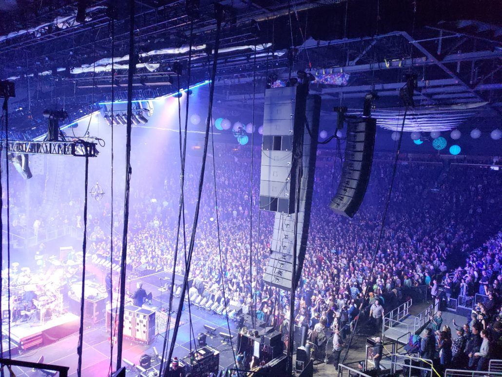 The String Cheese Incident rings in the new year at the 1st Bank Center on 12/31/18. Photo by: Matthew McGuire