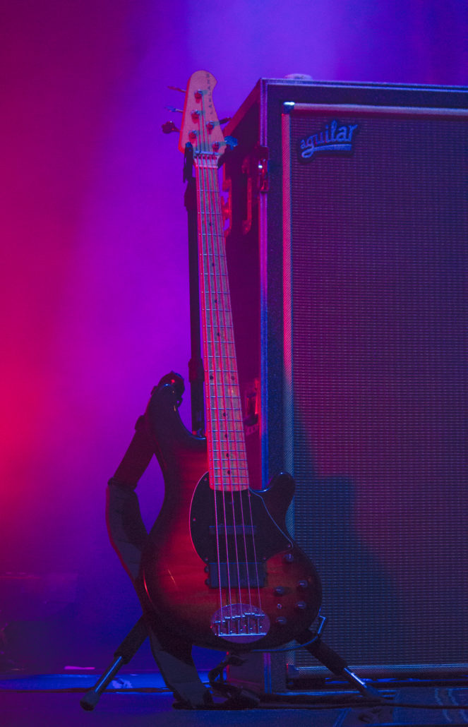 Keith Moseley's bass from 12/31/18 at the 1st Bank Center in Broomfield, Colorado. Photo by: Matthew McGuire