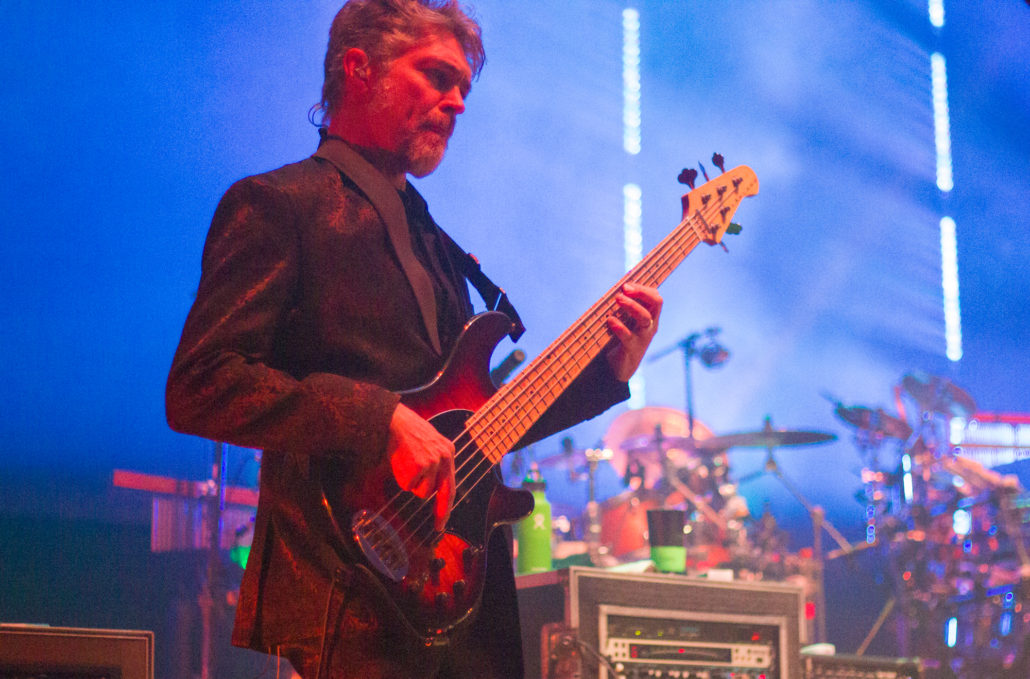 Keith Moseley performing with The String Cheese Incident on 12/31/18 at the 1st Bank Center in Broomfield, Colorado. Photo by: Matthew McGuire