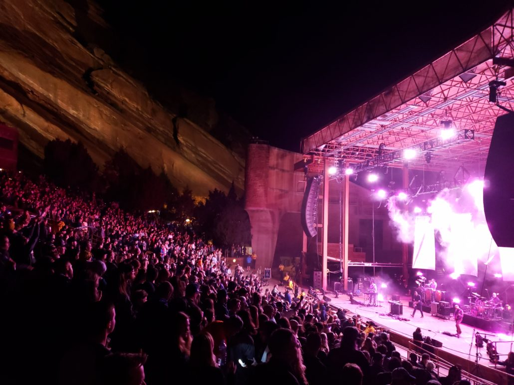 Lotus performing live at Red Rocks on 04/27/19. Photo by: Matthew McGuire