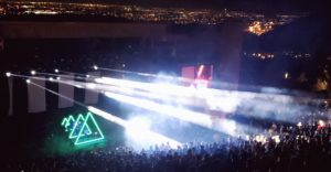 Ghostland Observatory at Red Rocks. Photo by: Matthew McGuire