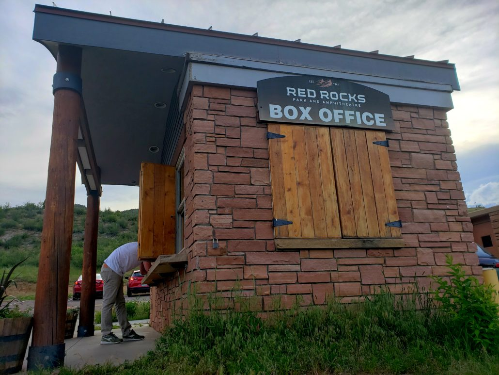 Red Rocks Park and Amphitheatre Box Office in Morrison, Colorado on June 14, 2019. Photo by: Matthew McGuire