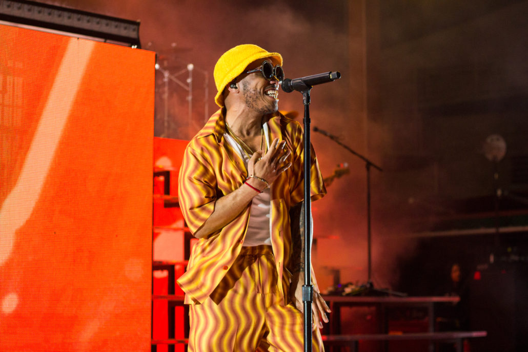 Anderson .Paak and The Free Nationals performing live at Red Rocks on Friday, June 14. Photo by: Matthew McGuire
